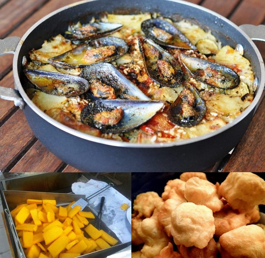 sgagliozze, popizze, patate riso e cozze, gdzie zjeść w Bari, co jeść w Apulii, jedzenie w Bari, jedzenie w Apulii, regionalne dania Apulii, Apulia co jeść