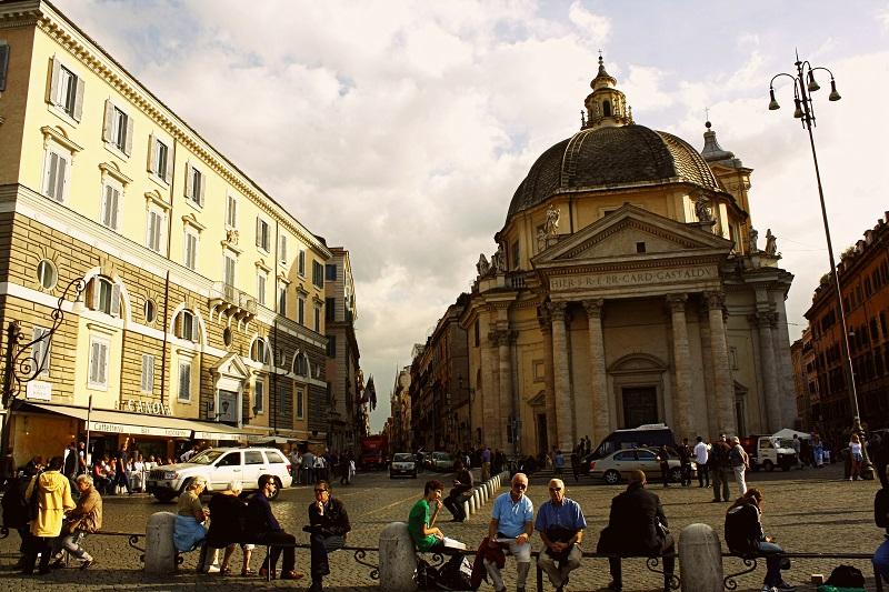 Rzym, Primo Cappuccino, Piazza del Popolo, co lubią rzymianie, jak zamieszkać w Rzymie, zwiedzanie Rzymu, Rzym informacje praktyczne, jak zwiedzać Rzym