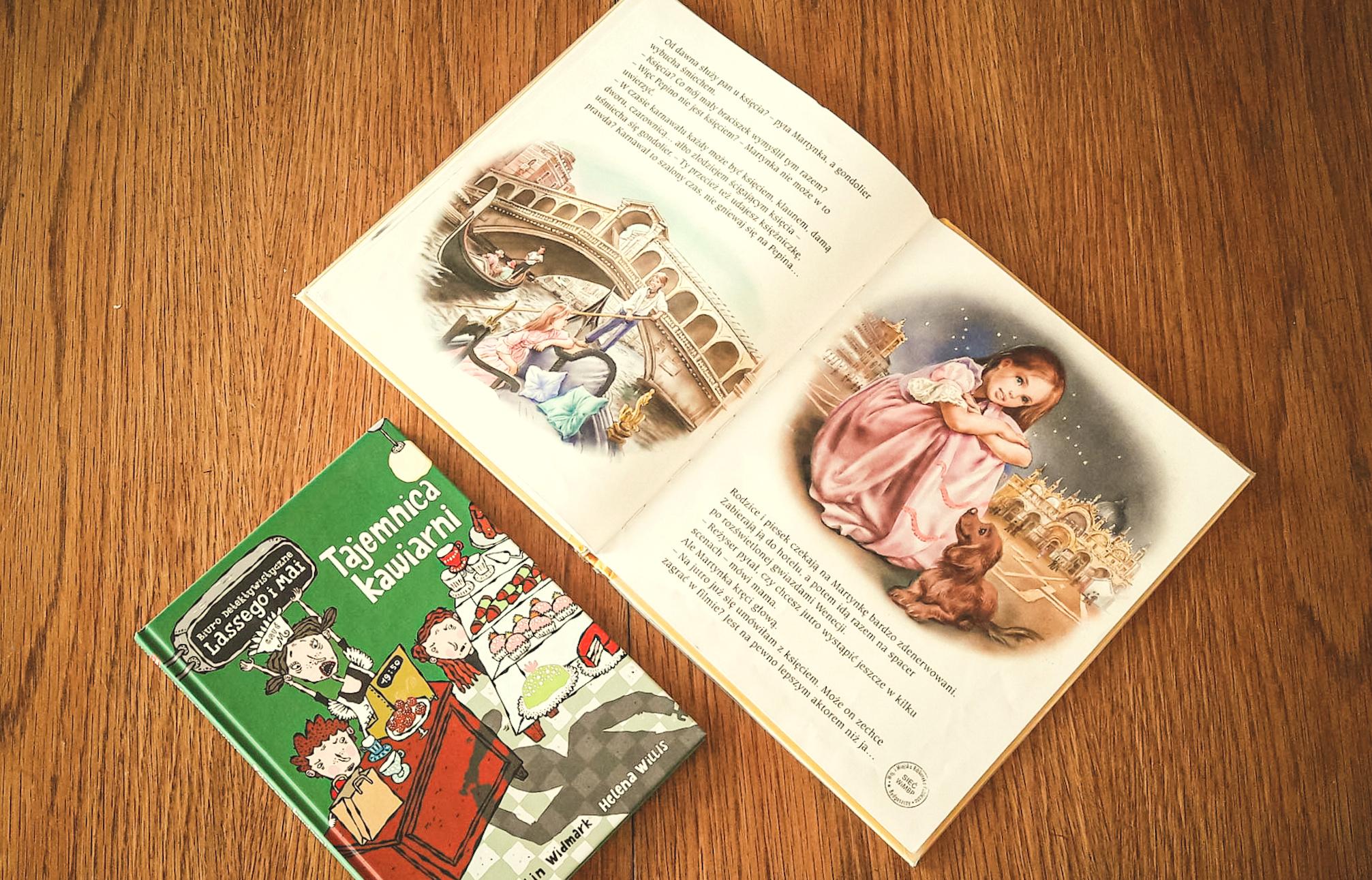 książki o Włoszech dla dzieci, książki dla dzieci, Biuro detektywistyczne lassego i mai, Tajemnica kawiarni, książki o kawiarni, co robić w domu