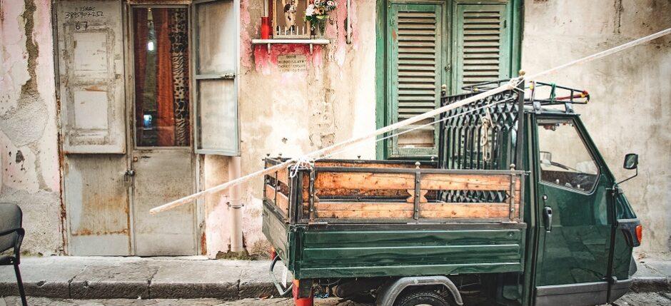 Ciekawostki o Włoszech, ape, włoskie pojazdy, Palermo na Sycylii, blog o Włoszech,
