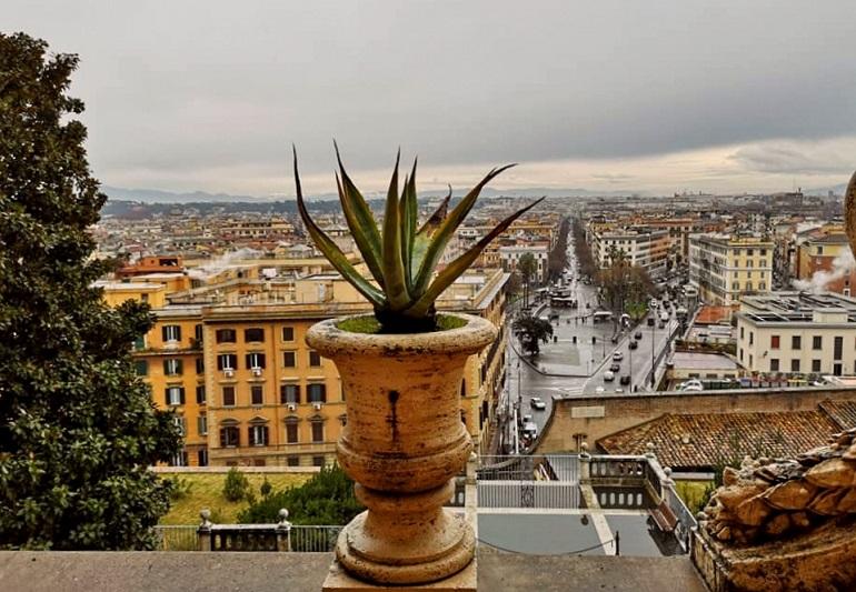 panorama Rzymu, widok na Rzym, punkty widokowe Rzymu, kopuła bazyliki Św. Piotra, Rzym, loty do Rzymu, koronawirus we Włoszech, czy można teraz jechać do Włoch