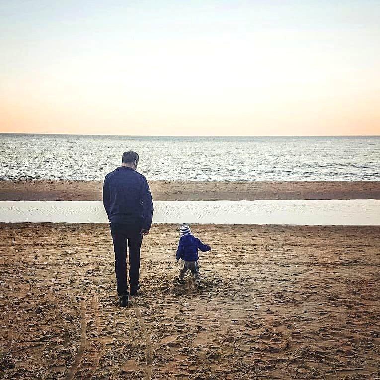 tata i syn, uważnosc, uważne życie, spokój